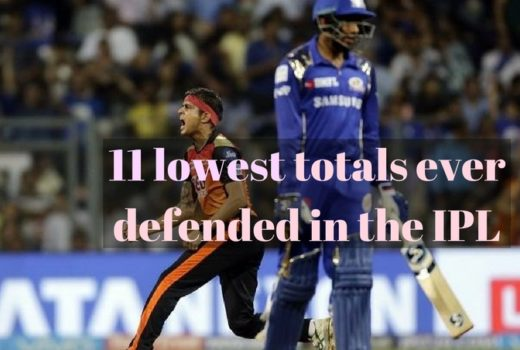 11 lowest totals ever defended in the IPL