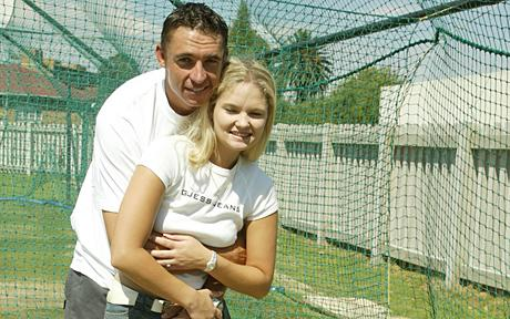 Andre Nel with his wife