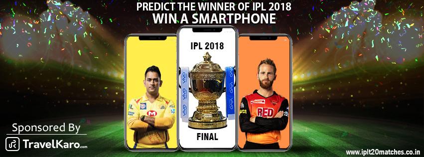 Predict the Winner & Win a Smartphone Contest  - IPL T20 Matches