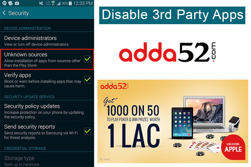 Disable 3rd party apps