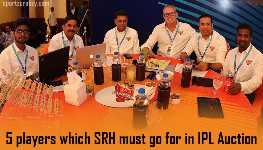 SRH in IPL auction