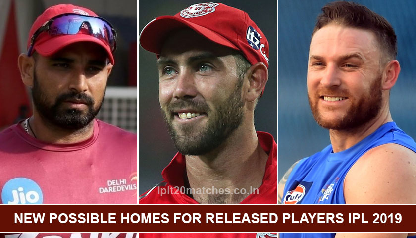 New possible homes for released Players IPL 2019 (1)
