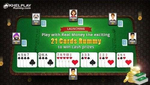 21 cards Rummy on khelplay rummy
