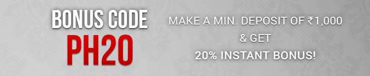 Pokerhigh 20% Instant Bonus