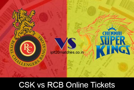 CSK vs RCB Online Tickets