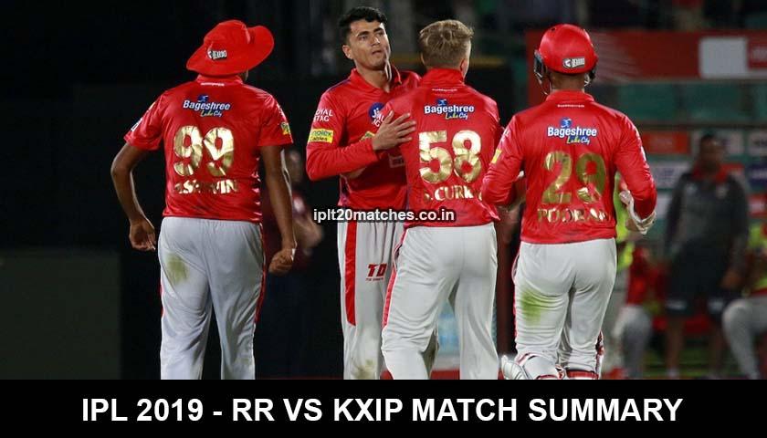 IPL 2019 - RR vs KXIP Match Summary