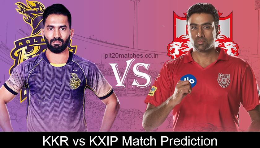 KKR VS KXIP Match Prediction