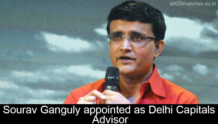 Sourav Ganguly in Delhi Capitals