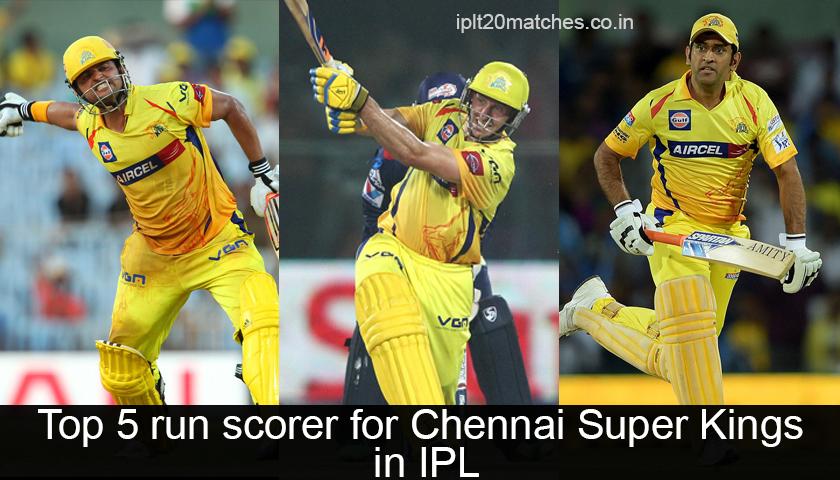 Top 5 run scorer for Chennai Super Kings in IPL