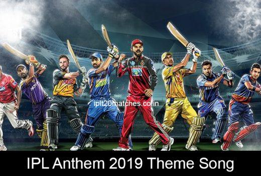 IPL Anthem 2019