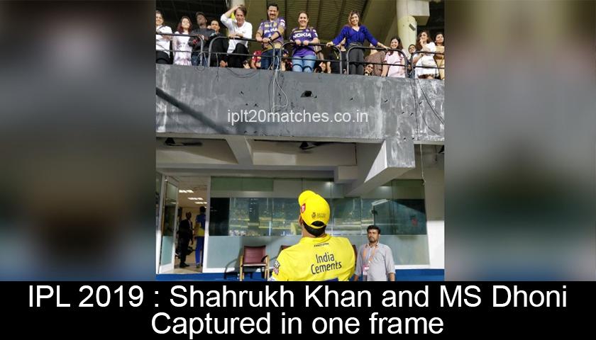 Shahrukh Khan and MS Dhoni